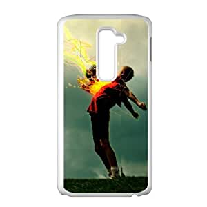 Sports flaming football LG G2 Cell Phone Case White Present pp001-9472177