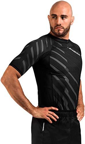 - Hayabusa Metaru Rash Guard for Men | Short Sleeve | Brazilian Jiu Jitsu | Grey | Large