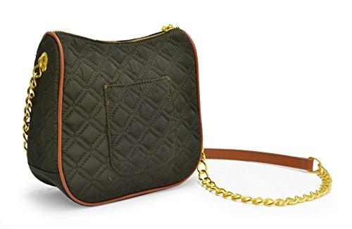 Body Cross Nylon Quilted Adrienne Olive Handbag Vittadini tpgHqwqIx