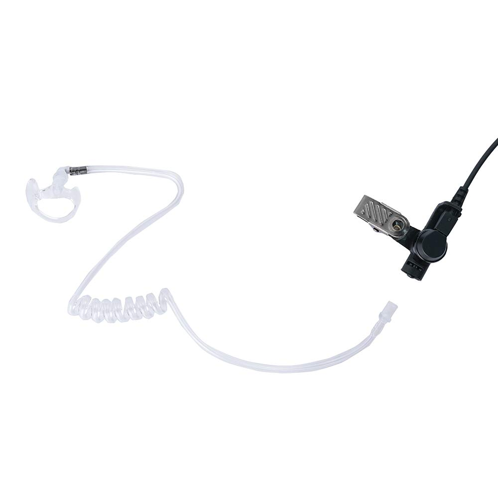 Trdio Listen Only Earpiece 3.5mm Covert Acoustic Tube Police Earpiec Headset with One Pair Medium Earmolds for Two-Way Radios Walkie Talkie Transceivers and Radio Speaker Mics Jacks