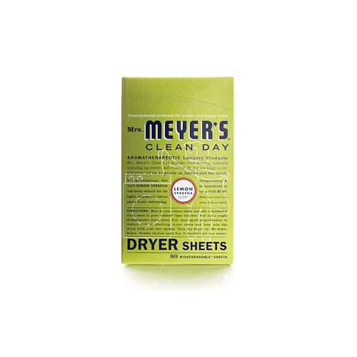 Softgel Sheets - 2 Packs of Mrs. Meyer's Dryer Sheets - Lemon Verbena - 80 Sheets
