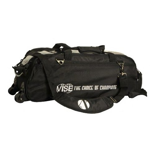 Vise Three Ball Tote Roller Bowling Bag, Black by Vise