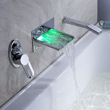support mural robinet de baignoire cascade conduit avec douchette extractible