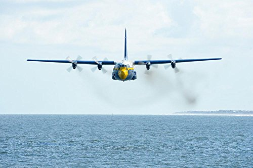 LAMINATED 36x24 inches Poster: Fat Albert Airplane Blue Ange