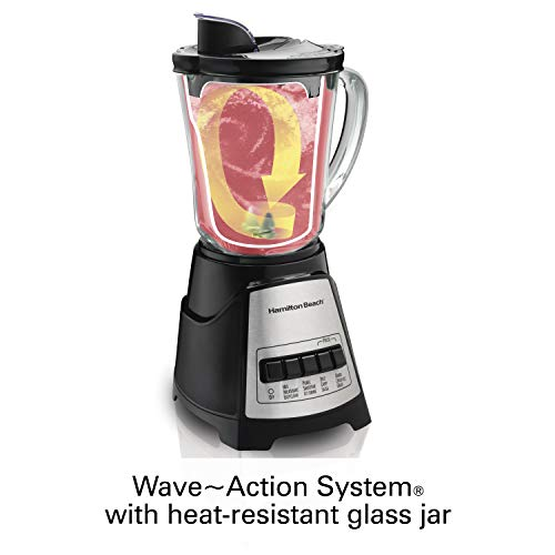 Hamilton Beach (58148A)Blender with Glass Jar, For Shakes & Smoothies, Multi function, Electric (58148A) by Hamilton Beach (Image #2)