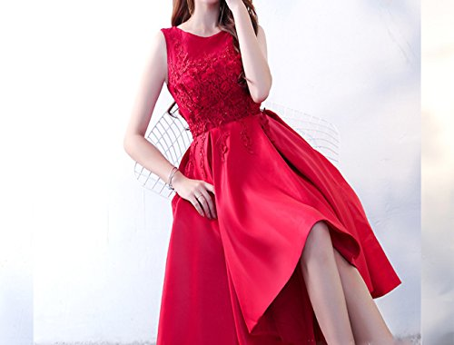 HDJJKSH Abito da cerimonia nuziale rosso vestito da cena da sposa corto  corto prima abito da sposa lungo  Amazon.it  Sport e tempo libero 231e1babcbb