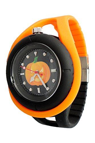 Geneva Authentic Loop Halloween Pumkpin Black Dial Kid's Watch ET1095
