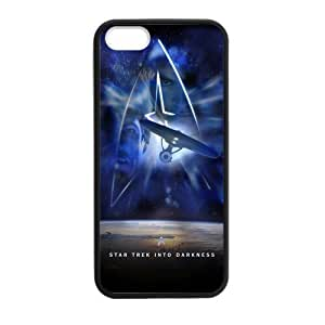 [Perfect-Fit] iPhone 5 Case, [star trek] iPhone 5,5s Case Custom Durable Case Cover for iPhone5s TPU case (Laser Technology)