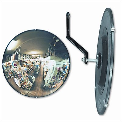 SeeAll Indoor Convex Mirror, Circular, 18 inches, Glass, ()