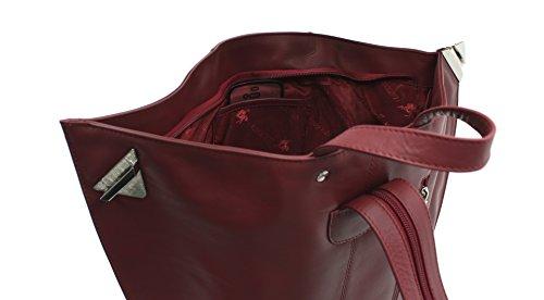 Visconti Mochila de Cuero Estilo 18258 Rojo rojo - rojo