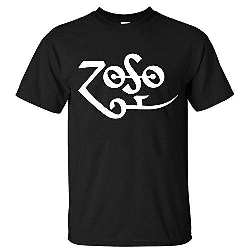 [XANAB Led Zeppelin Zoso Custom Men T Shirt black XXL] (Led Zeppelin Zoso T-shirt)