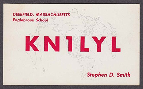 KN1LYL Stephen Smith Deerfield MA QSL card 1959 (Qsl Cards)
