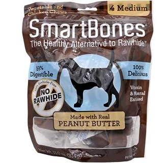 SmartBones Medium Peanut Butter Chews (4 Pack)