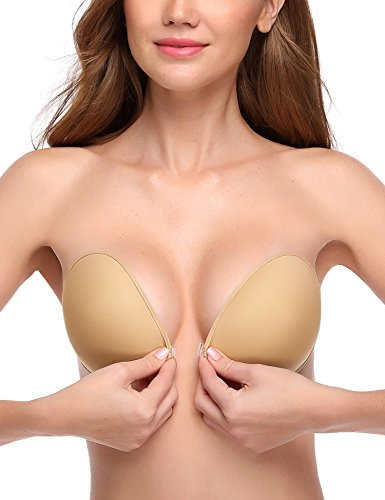 68f141d0c0e85 Wingslove Reusable Strapless Self Adhesive Silicone Invisible Push-up Bra(Nude
