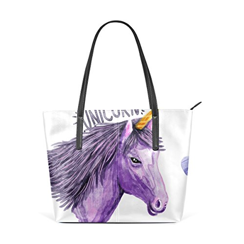 Bolsa Unicornio Impresión Top Wo Mujer Asas Deyya Multicolor2 Hombro De Mango Bolsos T5RC5wgq