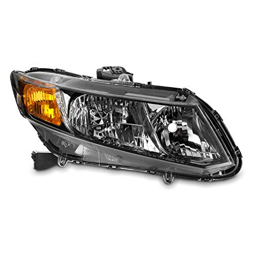 Fits 2012 2013 2014 2015 Civic Sedan Coupe Halogen Type Chrome Headlights Right Passenger Side