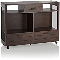 HOMES: Inside + Out HFW-1697C6-ST ioHOMES Kyle Industrial Console Table, One-Size, Vintage Walnut