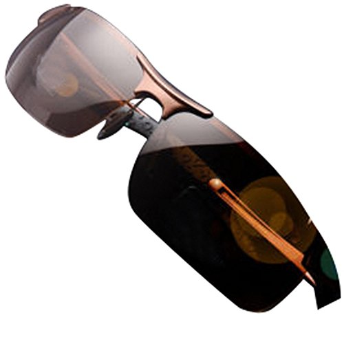 Brown Aluminium Aviator Polarized Sunglasses for Men Outdoor Driving Sun - Gianni Versace Sunglasses