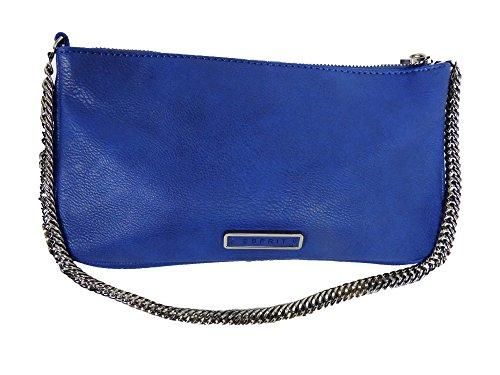 ESPRIT Damen Handtasche Tasche Umhängetasche Schultertasche Clutch blau