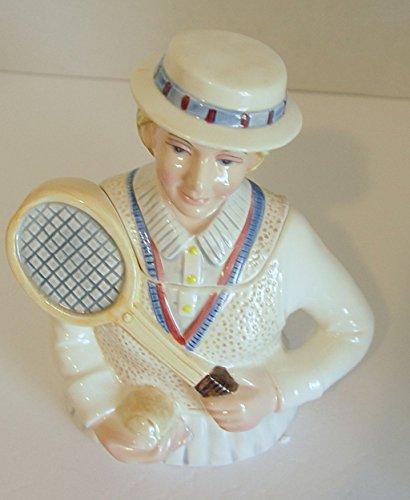 Fitz & Floyd Omnibus - Vintage 1994 Omnibus By Fitz & Floyd Old Fashioned Woman Tennis Player Teapot