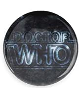 Classic Doctor Who Logo Pin-back Button/ Magnet