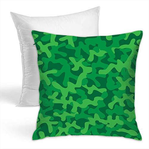 (Eratdatd Forest Green Camouflage Texture 42x42cm Popular Pillowcase£¨Hold Pillow£, Suitable for Sofa Cushion and Bed Pillow, Fashion Pillow)