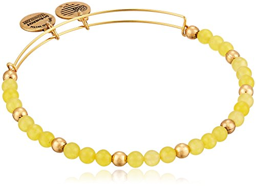 Alex and Ani Color Classics, Soleil/Rafaelian Gold Bangle Bracelet