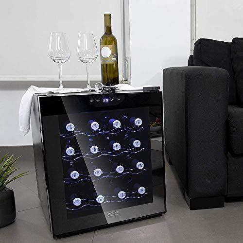Cecotec Vinoteca Grand Sommelier 1600 SilenceCrystal. 16 Botellas ...