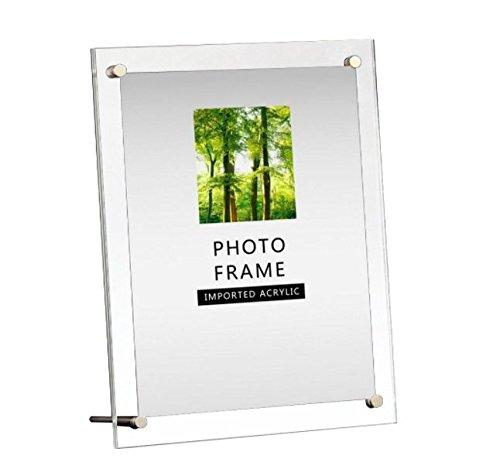 - Modern Acrylic Photo Frame - Desktop / Free standing (8x10 inches)