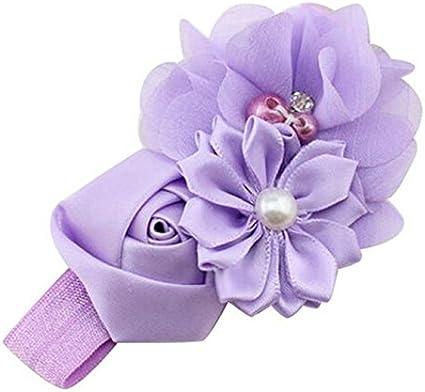 Baby Girl Hair Band Flower Pearl Headband Bow Soft Head Elastic Band Hairband Hair Accessories