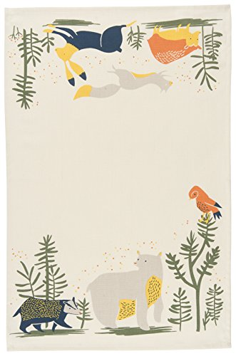Now Designs Printed Kitchen Towel, Windy Hollow (Bear Hollow)