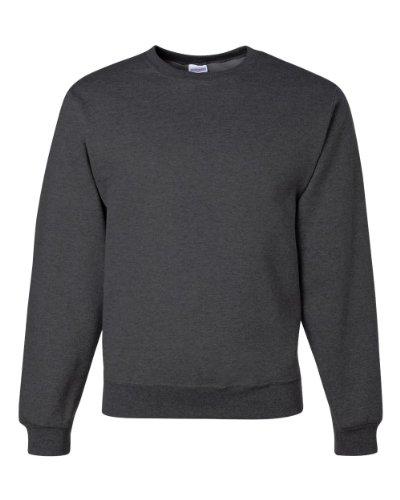 Jerzees Men's 562MR Crew Neck Sweatshirt, Ash, - Ash Grey Sweatshirt