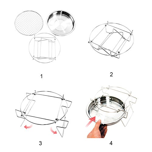 ADSRO Removable Oven Grill, Barbecue Table Portable Barbecue Tool Kit Outdoor Cooking Camping Hiking Picnic Bag or any Outdoor Activity