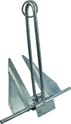 Penetrating Fluke Anchor (Attwood 9962-1 Steel Slip Ring Penetrating Anchor, 6-1/2-Pounds, Silver Finish)