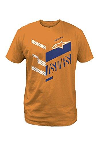 - Alpinestars Men's Modern Fit Short Sleeves 146 GSM Motorsports T-Shirt, Kinetic Orange, L