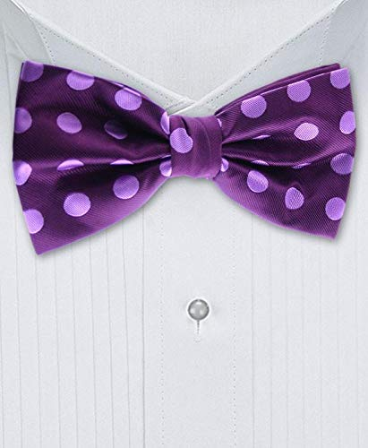 f9ce2f75bcd0 Image Unavailable. Image not available for. Color: Gentleman Joe Purple And Lilac  Polka Dot Bow Tie Multicolored