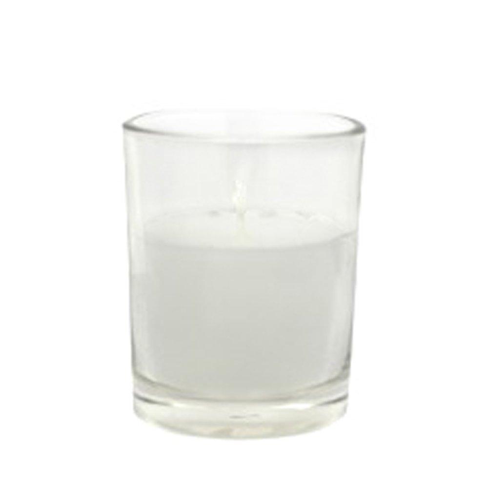 White Jeco Inc Zest Candle CVZ-017/_8 96-Piece Round Glass Votive Candle