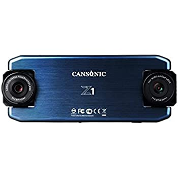 Cansonic UltraDuo Z1 Dual Lens Dash Cam Car Camera Dashboard Digital  Driving Video Recorder HD 1080P, 150 Degree Wide Angle, 160 ft Zoom in  Lens,