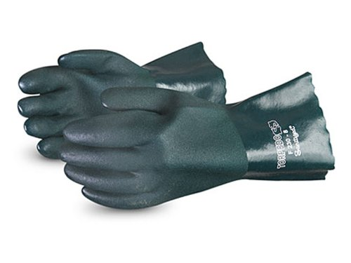 Premium Torpedo (Superior F265 Torpedo Premium Double Dip PVC Glove with Fleece Lined, Work, Chemical-Resistant, 26