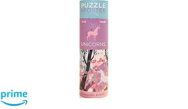 100pc Puzzle /& Poster Unicorns Crocodile Creek