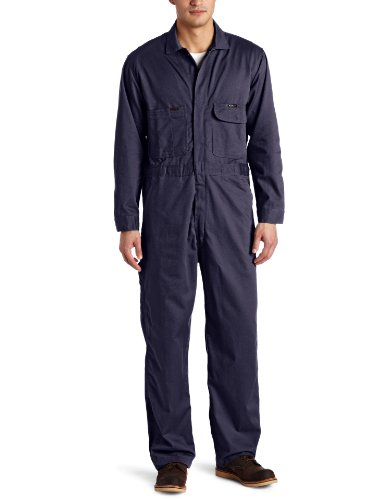 - Key Industries Men's Flame Resistant Long Sleeve Deluxe Unlined Coverall, Navy, 36 Short