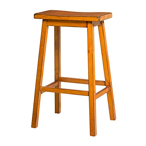 Oak Traditional Bar Stools (ACME Furniture Gaucho Bar Stool (Set of 2), Antique Oak)