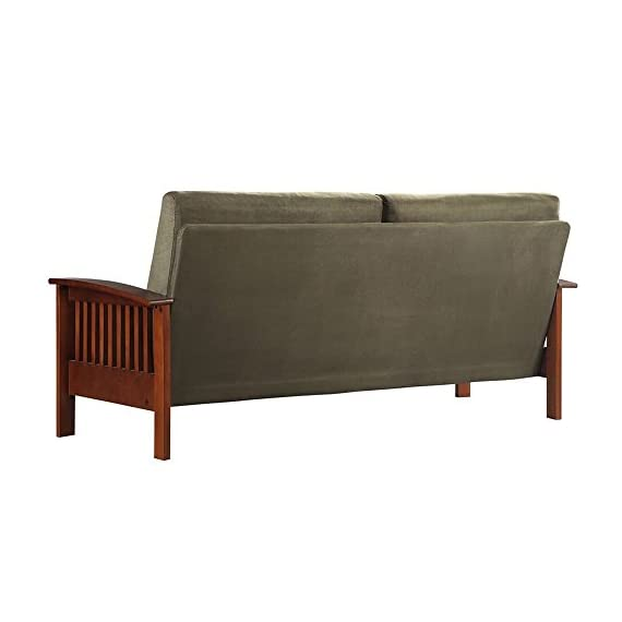 TRIBECCA HOME Hills Mission-style Oak and Olive Sofa -  - sofas-couches, living-room-furniture, living-room - 41OQ%2BSECZmL. SS570  -