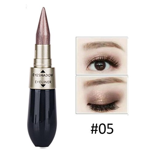 Creazy Double-end Waterproof Liquid EyeShadow Eyeliner Combi