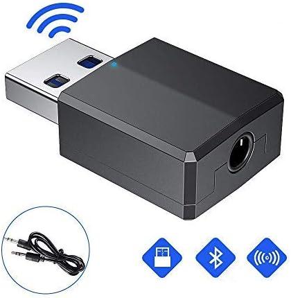 pour PC//Maison//Casques//T/él/éviseur//Voiture//Enceinte GeekerChip Bluetooth 5.0 R/écepteur et /Émetteur 2-en-1 Adaptateur Bluetooth,avec c/âble Audio num/érique 3,5mm