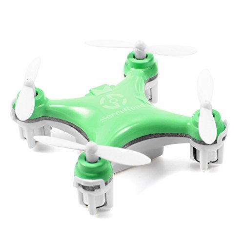 Cheerson CX-10 4CH 2.4GHz 6 Axis Gyro LED Rechargeable Mini Nano RC UFO Quadcopter - Green