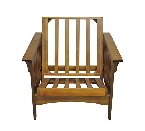 Gold Bond AOSHC + BO28C Boston Cherry Oak Futon Frame Chair, 28