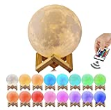 Astro-Night Moon Lamp, 3D Printed 16 Color LED Moon Night Light, USB Recharge, Remote Control & Touch Sensor, Adjustable Brightness(5.9 INCH) for Babies/Children The for Friends & Admiers