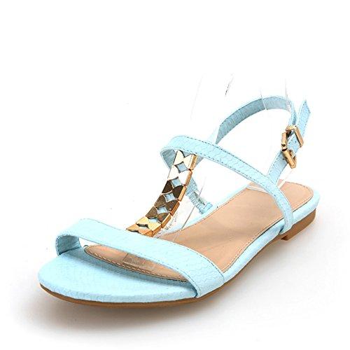 Zapatos de cuero de serpiente de verano/TZapatos con forma de mariposa metal/Sandalias planas mujeres B