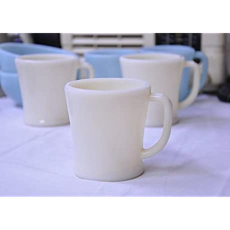 Fire King Ivory D Handle Mug Flat Bottom
